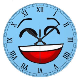 emotion blue smiley wall clocks