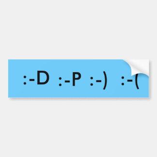 Emotion bumper sticker