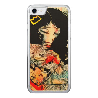 Emotional art, low brow girl art iPhone6 Carved iPhone 8/7 Case