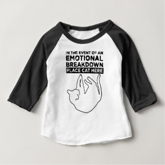 EMOTIONAL BREAKDOWN CAT BABY T-Shirt