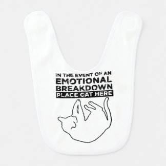 EMOTIONAL BREAKDOWN CAT BIB