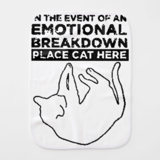 EMOTIONAL BREAKDOWN CAT BURP CLOTH
