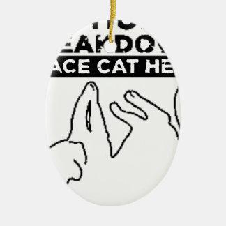 EMOTIONAL BREAKDOWN CAT CERAMIC OVAL DECORATION