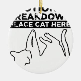 EMOTIONAL BREAKDOWN CAT ROUND CERAMIC DECORATION