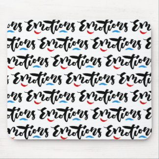 Emotions - Hand Lettering Design Mouse Pad