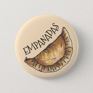 Empanadas Latin South American Fried Pastries Food 6 Cm Round Badge
