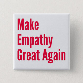 Empathy 15 Cm Square Badge