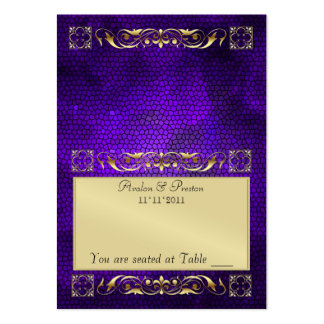 Emperior Purple Folding Table Placecard Large Business Cards (Pack Of 100)