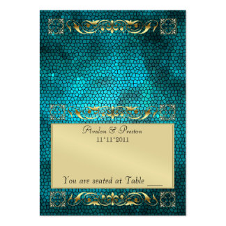 Emperior Teal Folding Table Placecard Pack Of Chubby Business Cards