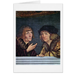 Emperor And Counselor By Lucas Cranach(I) Cards