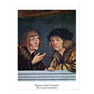 Emperor And Counselor By Lucas Cranach(I) Postcards