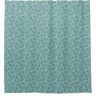 Emperor Angelfish Dusty Spruce Shower Curtain