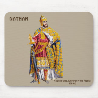 Emperor Charlemagne ~ Personalised for NATHAN ~ Mouse Pad