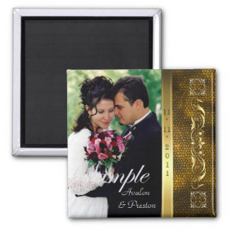 Emperor Gold Photo Save The Date Magnet