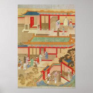 Emperor Hsuan Tsung  at home Poster