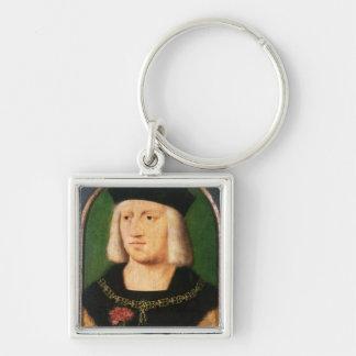 Emperor Maximilian I, c.1508-09 Silver-Colored Square Key Ring