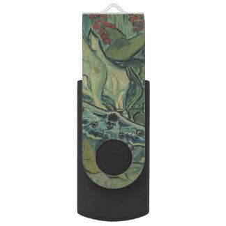 Emperor Moth by Vincent Van Gogh Swivel USB 2.0 Flash Drive