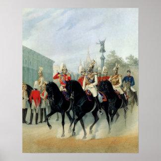 Emperor Nicholas I  and Grand Duke Alexander Poster