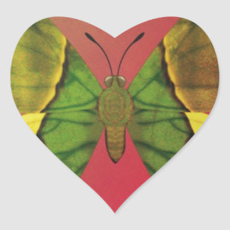 Emperor of India Butterfly Heart Sticker