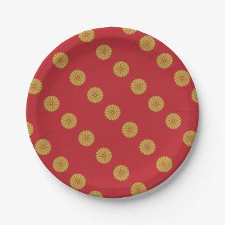 Emperor of Japan Paper Plate