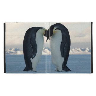 Emperor Penguin Kiss Caseable Universal iPad Folio iPad Case