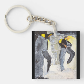 Emperor Penguins on Ice Key Ring