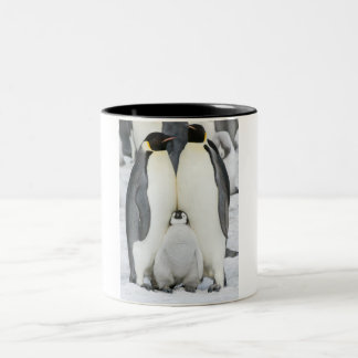 Emperor Penguins with Chick - mug