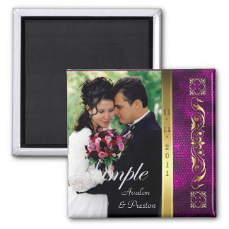 Emperor Pink Photo Save The Date Magnet