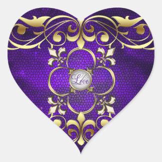 Emperor Purple Heart Stained Glass Love Sticker
