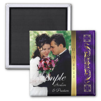 Emperor Purple Photo Save The Date Magnet