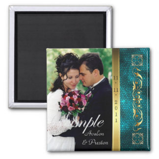 Emperor Teal Photo Save The Date Magnet