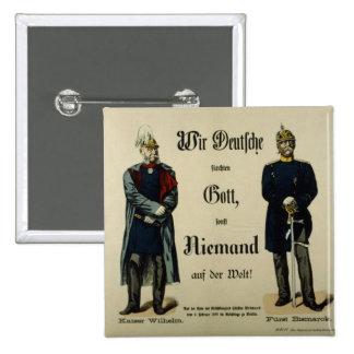 Emperor Wilhelm I and Prince Bismarck Pin