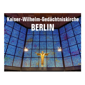 Emperor Wilhelm memory church, BERLIN Postcard