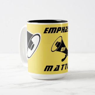 """Emphasis of Matter"" Two-Tone Coffee Mug"