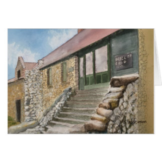 EMPIRE MINE, NEVADA CITY, CALIFORNIA ,  WATERCOLOR CARD