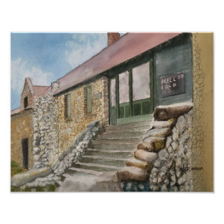 EMPIRE MINE, NEVADA CITY, CALIFORNIA   WATERCOLOR POSTER