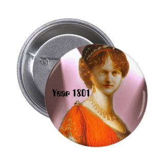 Empire/Regency, Year 1801 Fashion 6 Cm Round Badge