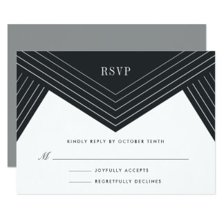Empire RSVP Card | Charcoal