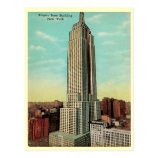 Empire State Building 1930s Postcard