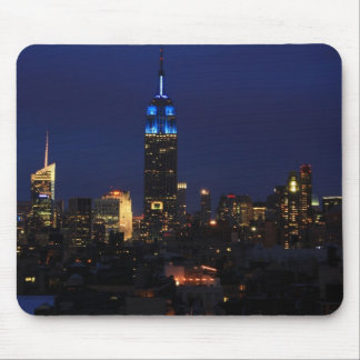 Empire State Building all in Blue, NYC Skyline Mouse Pad