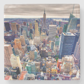 Empire State Building and Midtown Manhattan Stone Coaster