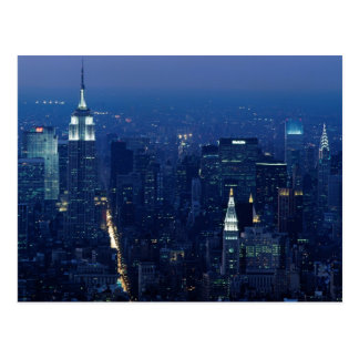 Empire State Building at Night, New York City Postcard