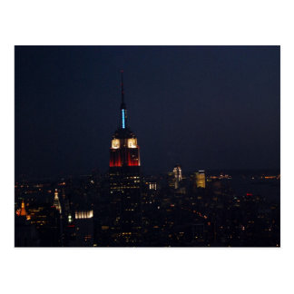 Empire State Building At Night Postcard