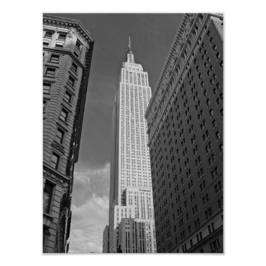 Empire State Building Black And White Photograph Poster