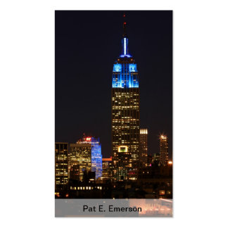 Empire State Building Blue for Autism 2012 Pack Of Standard Business Cards