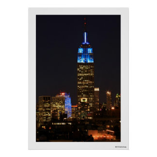 Empire State Building Blue for Autism 2012 Posters