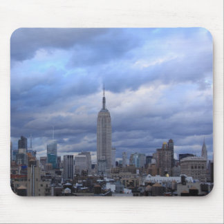Empire State Building Dramatic Clouds Mousepad