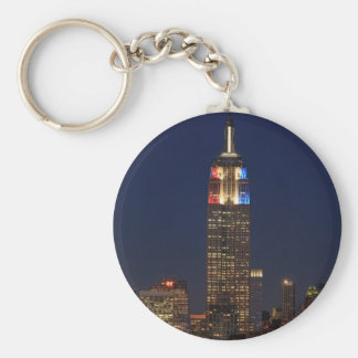 Empire State Building: Election Night 2012 #1 Basic Round Button Key Ring