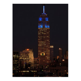 Empire State Building in Blue, 30 Rock #02 Postcard