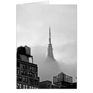 Empire State Building in Clouds Card
